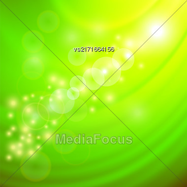 Abstract Light Green Wave Background. Blurred Green Pattern Stock Photo