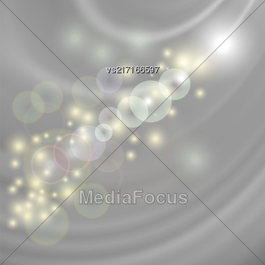 Abstract Light Grey Wave Background. Blurred Grey Pattern Stock Photo