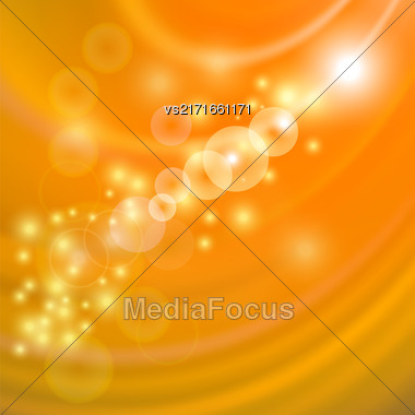 Abstract Light Orange Wave Background. Blurred Orange Pattern Stock Photo