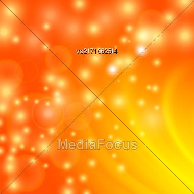 Abstract Light Orange Wave Background. Blurred Orange Pattern Stock Photo