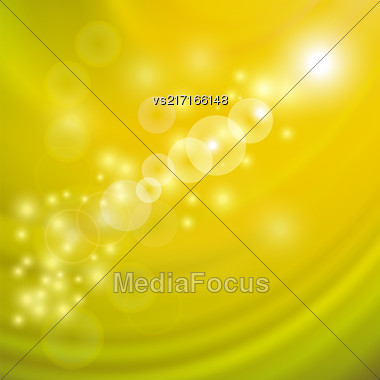 Abstract Light Yellow Wave Background. Blurred Yellow Pattern Stock Photo
