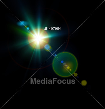 Abstract Lights, Sun And Festive Backgrounds For Your Design Stock Photo