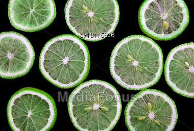Abstract Lime On Black Background(as Wallpaper Or Backdrop Stock Photo