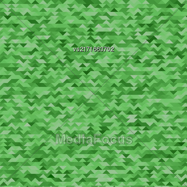 Abstract Mosaic Green Triangles Background For Your Design Stock Photo