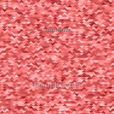 Abstract Mosaic Red Triangles Background For Your Design Stock Photo