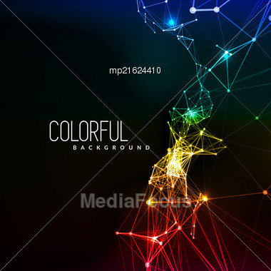 Abstract Network Data Connection. Vector Technology Background Stock Photo