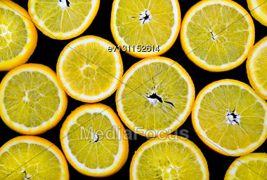 Abstract Orange On Black Background(as Wallpaper Or Backdrop Stock Photo