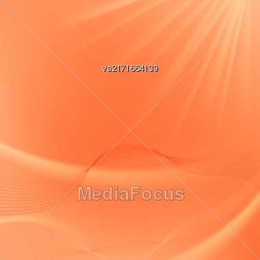 Abstract Orange Blurred Background. Abstract Wave Pattern Stock Photo