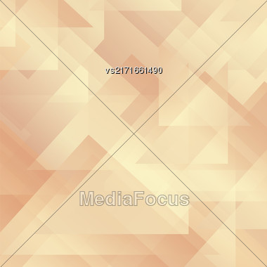 Abstract Orange Pattern. Geometric Orange Futuristic Background Stock Photo