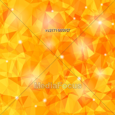 Abstract Orange Polygonal Background. Abstract Polygonal Pattern Stock Photo