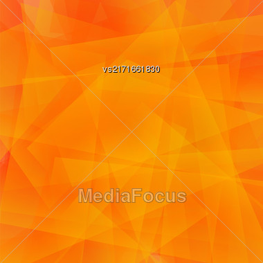 Abstract Orange Polygonal Background. Orange Geometric Pattern Stock Photo