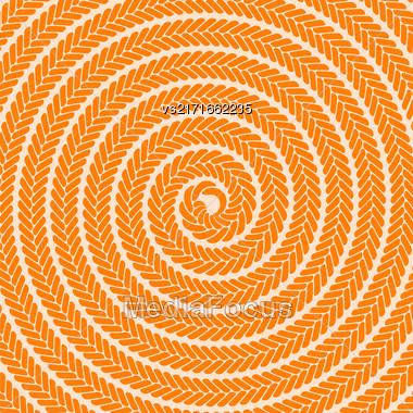 Abstract Orange Spiral Pattern. Abstract Orange Spiral Background Stock Photo