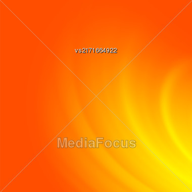 Abstract Orange Wave Background. Blurred Orange Pattern Stock Photo