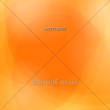 Abstract Orange Wave Background. Orange Light Pattern Stock Photo