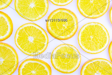 Abstract Orange On White Background(as Wallpaper Or Backdrop Stock Photo
