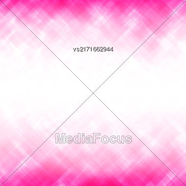 Abstract Pink Background. Square Mosaic Pattern. Template Design For Banner, Poster, Leaflet Stock Photo