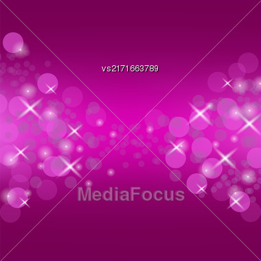 Abstract Pink Circle Background. Blurred Lights Pattern Stock Photo