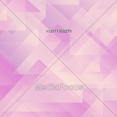 Abstract Pink Pattern. Geometric Pink Futuristic Background Stock Photo