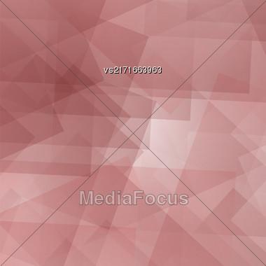 Abstract Pink Pattern. Geometric Pink Futuristic Background Stock Photo