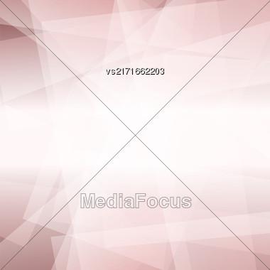 Abstract Pink Polygonal Background. Pink Geometric Pattern Stock Photo