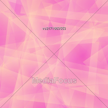 Abstract Pink Polygonal Background. Pink Geometric Pattern Stock Photo