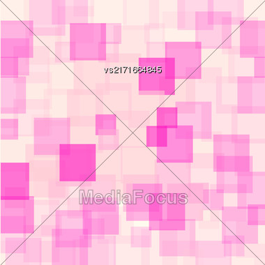 Abstract Pink Squares Background. Abstract Pink Squares Futuristic Pattern Stock Photo