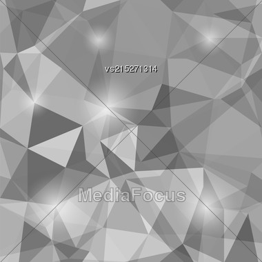 Abstract Polygonal Background. Abstract Geometric Grey Pattern Stock Photo