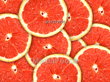 Royalty-Free Stock Photo: Abstract Red Background With Citrus-fruit Of ...