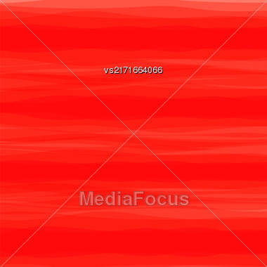 Abstract Red Horizontal Wave Background. Red Pattern Stock Photo