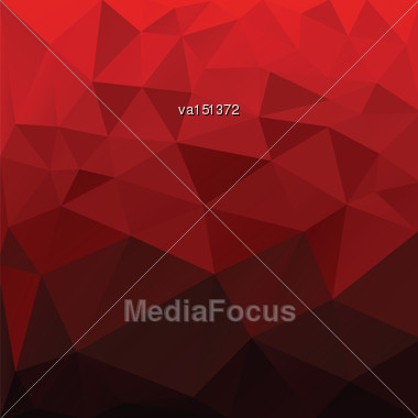 Abstract Red Low Poly Background Vector Illustration Stock Photo