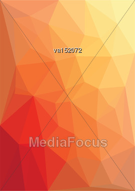 Abstract Red Low Polygon Background Vector Illustration Stock Photo