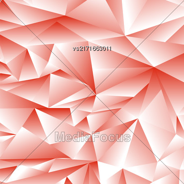 Abstract Red Polygonal Background. Abstract Red Polygonal Pattern Stock Photo
