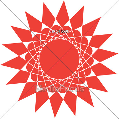 Abstract Red Sun Stock Photo