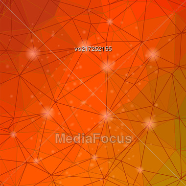 Abstract Red Triangle Background. Modern Mosaic Pattern. Template Design For Banner, Poster Stock Photo
