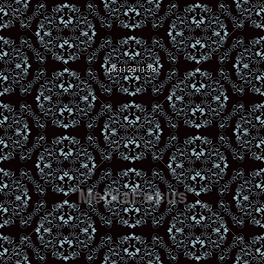 Abstract Seamles Vector Background In Victorian Style Stock Photo