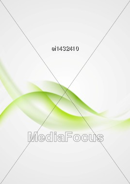 Abstract Shiny Green Waves Vector Background Stock Photo