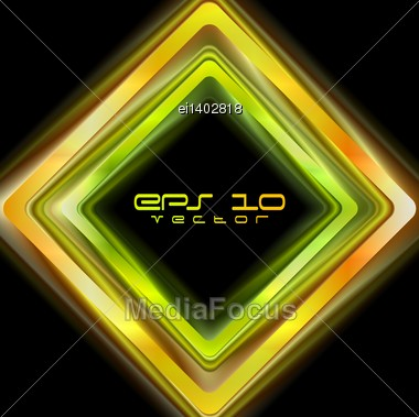 Abstract Shiny Squares Background. Vector Logo Eps 10 Stock Photo