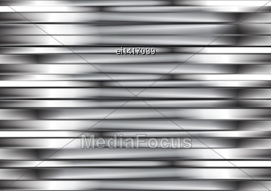 Abstract Silver Metallic Stripes. Vector Background Eps 10 Stock Photo