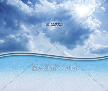 Abstract Skies Background With Copy Space Stock Photo