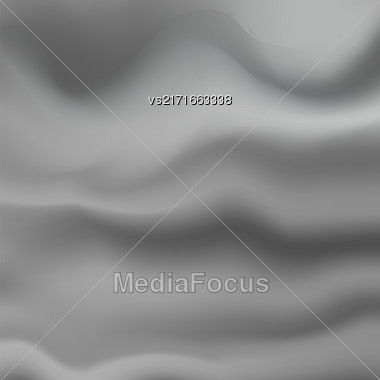Abstract Soft Grey Background. Blurred Wave Grey Pattern Stock Photo