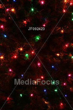 An Abstract Of Some Colorful Christmas Tree Lights Stock Photo