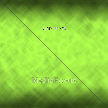 Abstract Square Background. Green Mosaic Pattern. Pattern Design For Banner, Poster, Flyer Stock Photo