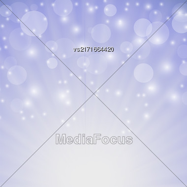 Abstract Sun Background. Blue Summer Pattern. Bright Background With Sunshine. SunBurst With Flare And Lens Stock Photo