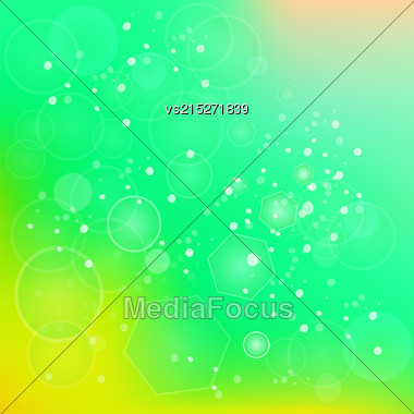 Abstract Sun Green Background For Your Design Stock Photo