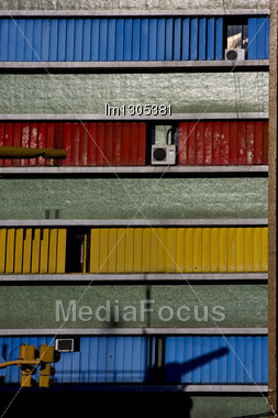 Abstract Texture Wall In Office And Air Condition La Boca Buenos Aires Argentina Stock Photo