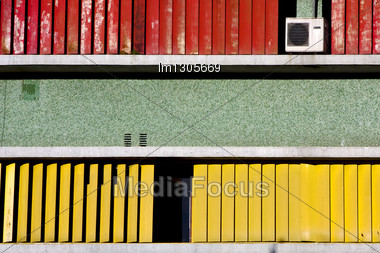 Abstract Texture Wall In Office La Boca Buenos Aires Argentina Air Condition Stock Photo
