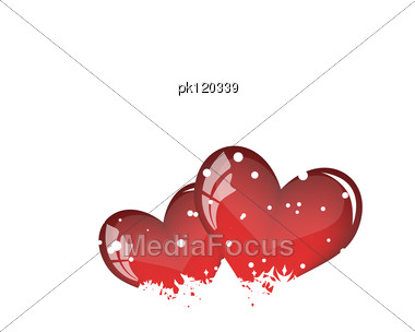 Abstract Valentine Days Background Frame. Vector Illustration. Stock Photo