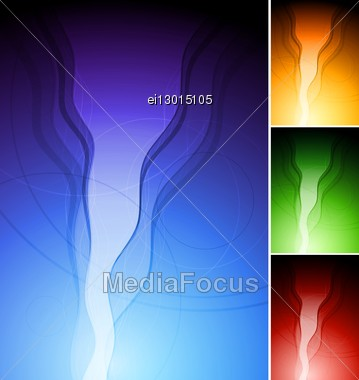 Abstract Vertical Wavy Backgrounds. Eps 10 Vector. Four Colours Stock Photo