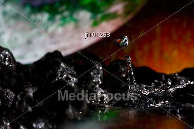 Abstract View Of A Planet Stock Photo