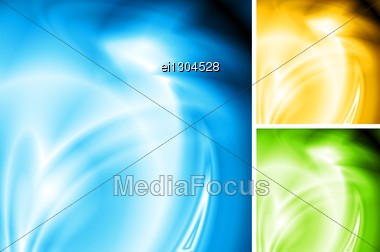 Abstract Wave Backgrounds. Three Colours. Stock Photo